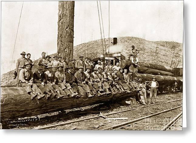 Clemons Logging Company Camp Circa 1925 Greeting Card
