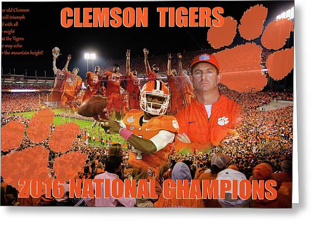 Clemson National Champs Greeting Card