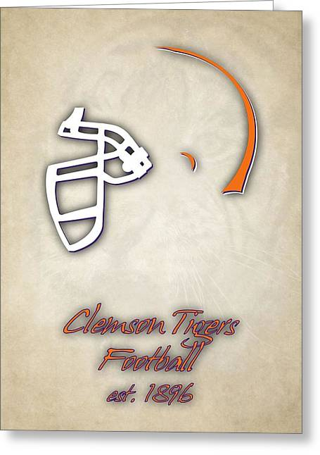 Clemson Tigers Helmet 2 Greeting Card by Joe Hamilton