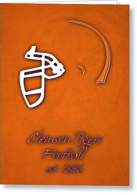 Clemson Tigers Helmet Greeting Card by Joe Hamilton