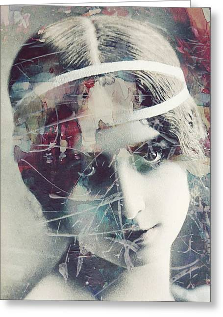 Cleo De Merode Greeting Card by Paul Lovering