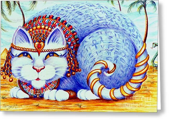 Cleocatra Greeting Card by Dee Davis