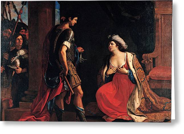 Cleopatra And Octavian Greeting Card by Guercino