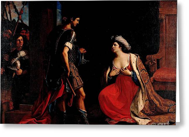 Cleopatra And Octavian Greeting Card by Pg Reproductions