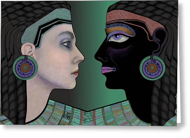 Cleopatra's Mirror Greeting Card by Carol Jacobs