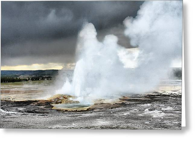 Clepsydra Geyser West Yellowstone National Park Usa Wy Greeting Card
