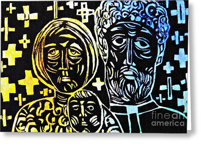 Clergy Family Greeting Card by Sarah Loft