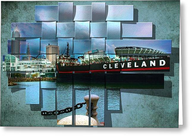 Cleveland A Different Look Greeting Card by Kenneth Krolikowski