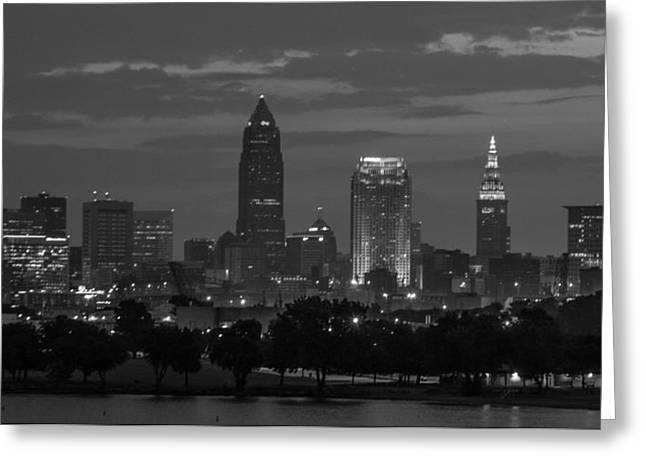 Cleveland After Dark Greeting Card