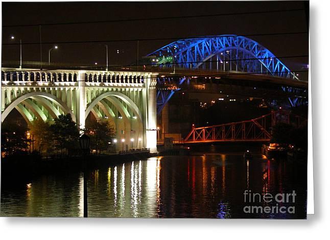 Cleveland Bridge Series 7 Greeting Card by Donna Stewart