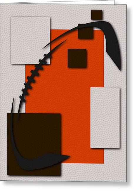 Cleveland Browns Football Art Greeting Card by Joe Hamilton