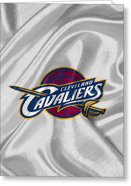 Cleveland Cavaliers Greeting Card by Afterdarkness