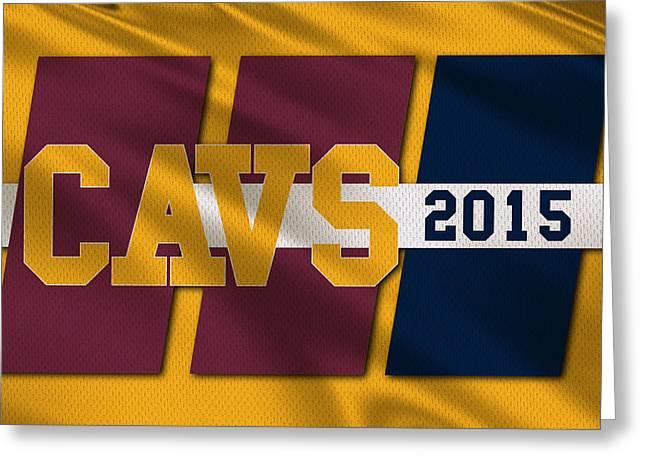 Cleveland Cavaliers Flag2 Greeting Card by Joe Hamilton
