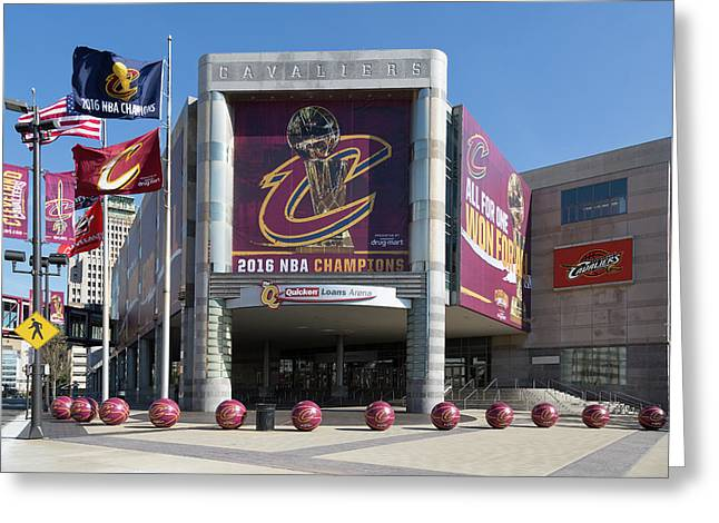 Cleveland Cavaliers The Q Greeting Card