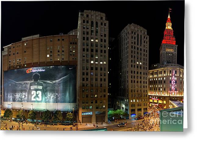 Cleveland Cavs Champions Greeting Card by Frank Cramer