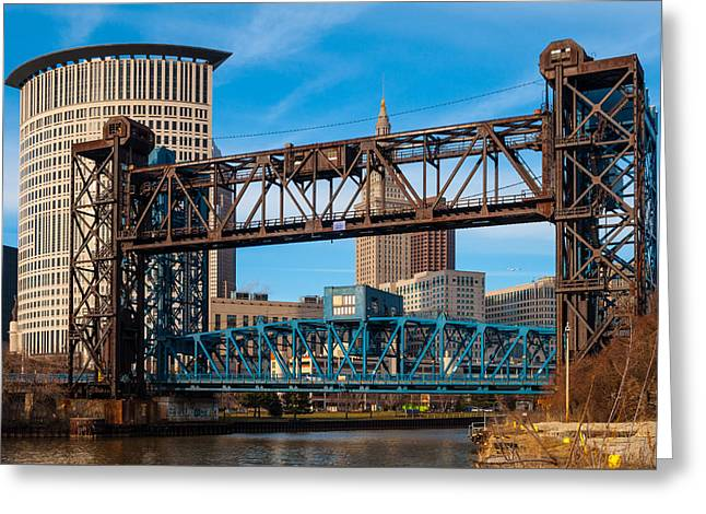 Cleveland City Of Bridges Greeting Card
