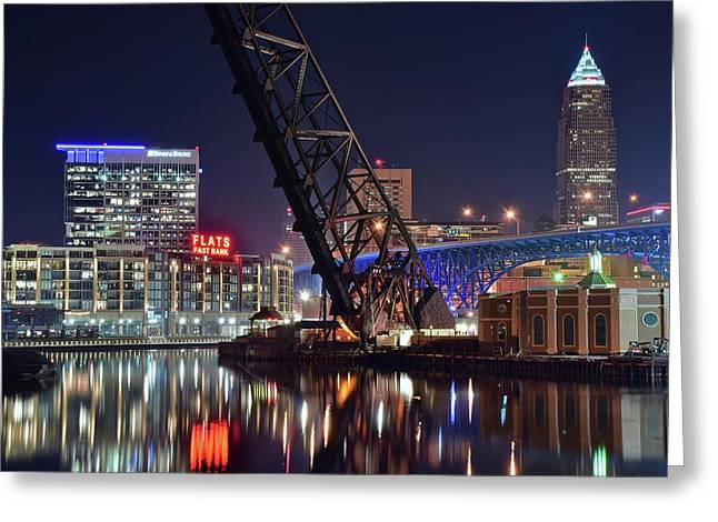 Cleveland Flats East Bank Greeting Card