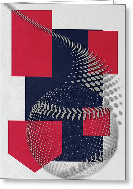 Cleveland Indians Art Greeting Card by Joe Hamilton