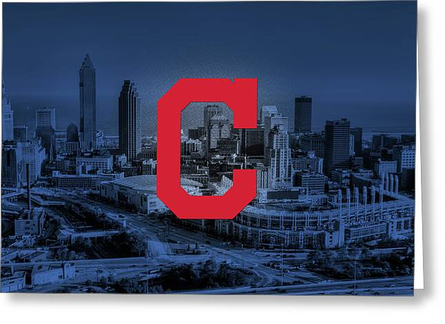Cleveland Indians City Greeting Card by Nicholas Legault