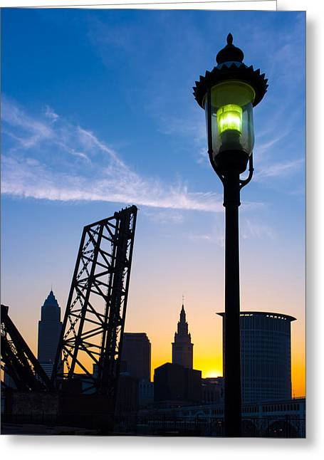 Cleveland Morning By The Lamp Post Greeting Card
