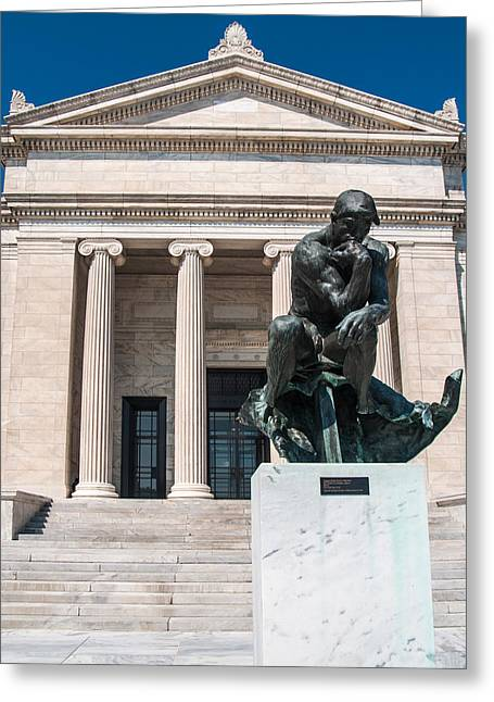 Cleveland Museum Of Art, The Thinker Greeting Card