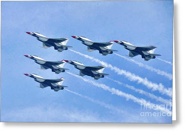 Cleveland National Air Show - Air Force Thunderbirds - 1 Greeting Card