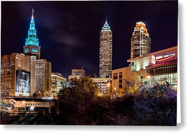 Cleveland Night Hype Greeting Card