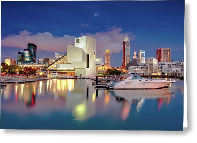 Greeting Card featuring the photograph Cleveland Ohio 2  by Emmanuel Panagiotakis