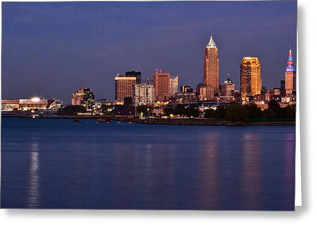 Cleveland Ohio Greeting Card by Dale Kincaid