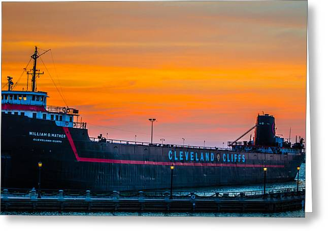 Cleveland Sunset Greeting Card