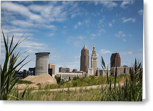 Cleveland Through The Green Greeting Card by Dale Kincaid