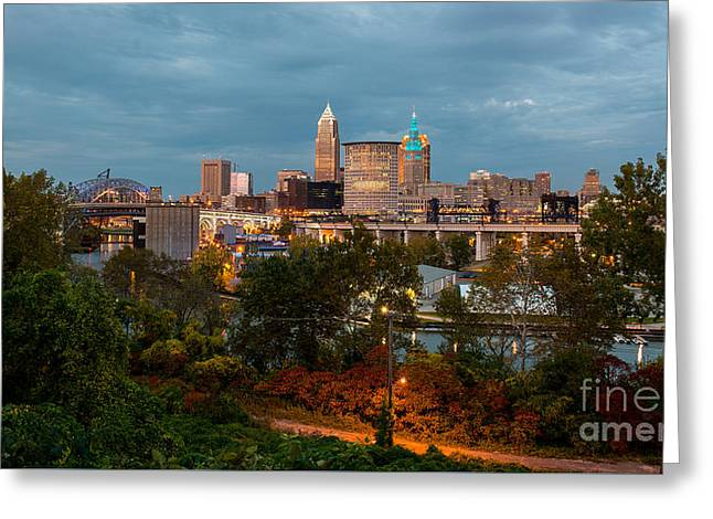 Cleveland Wide View Greeting Card by Frank Cramer