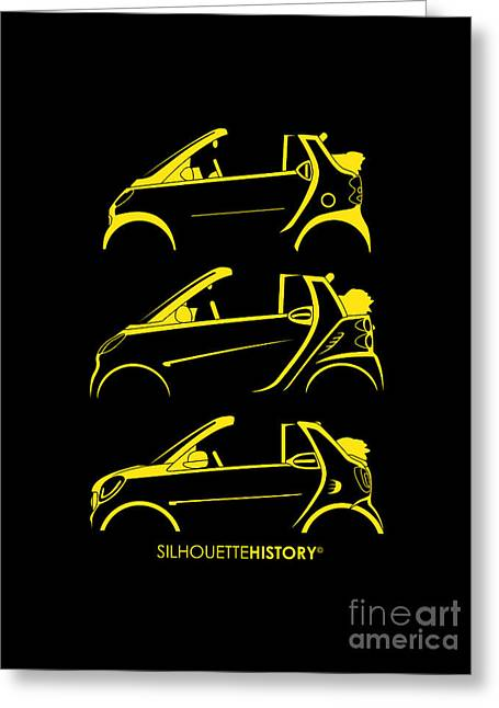 Clever Cabrio Silhouettehistory Greeting Card by Gabor Vida