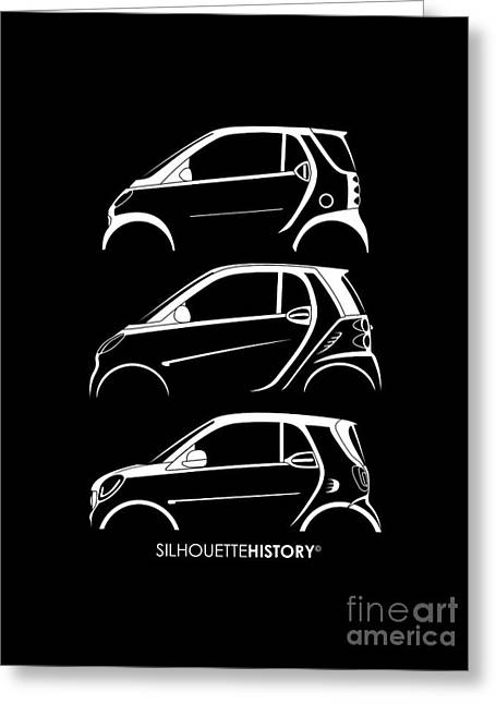 Clever Coupe Silhouettehistory Greeting Card by Gabor Vida