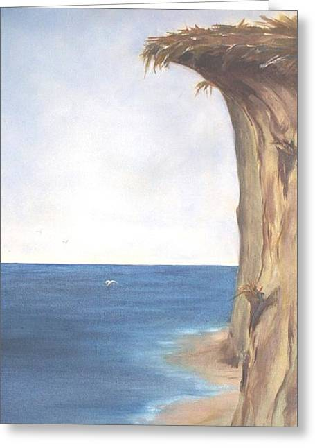 Greeting Card featuring the painting Cliff by Diane Daigle