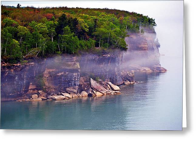 Greeting Card featuring the photograph Cliff Fog by SimplyCMB