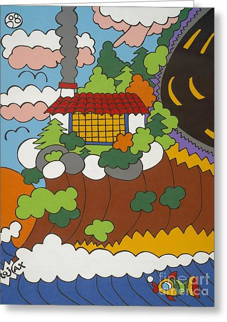 Cliff House Over Ocean Greeting Card