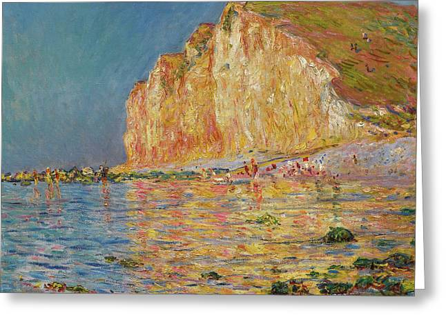 Cliff In Pourville Greeting Card