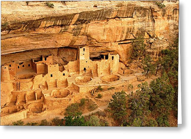 Cliff Palace Ruin Site Greeting Card