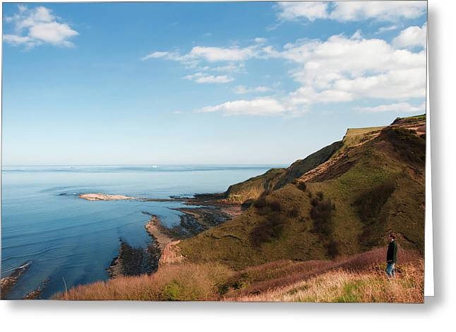 Cliff Side Greeting Card by Svetlana Sewell