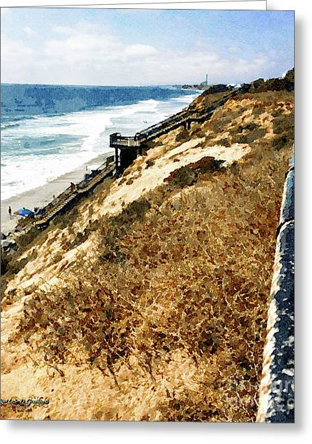 Cliff View - Carlsbad Ponto Beach Greeting Card