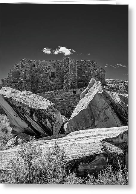 Cliff Wall With Pueblo Bonito Greeting Card by Joseph Smith