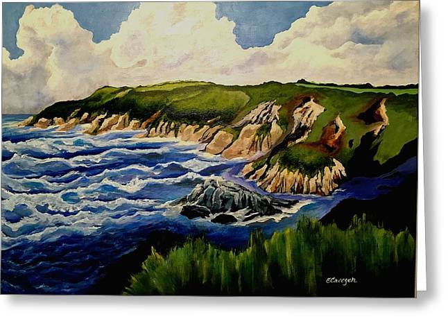 Cliffs And Sea Greeting Card