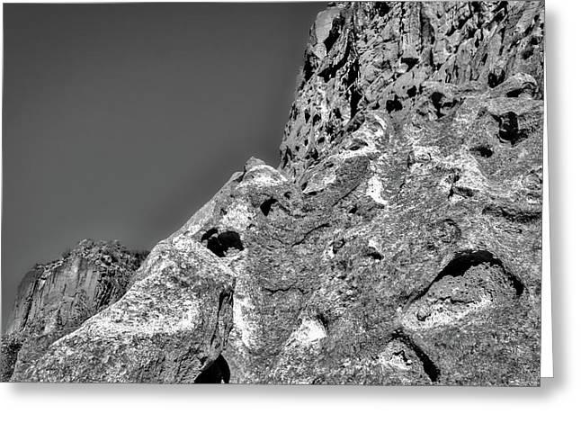Cliffs At Bandelier #3 Greeting Card