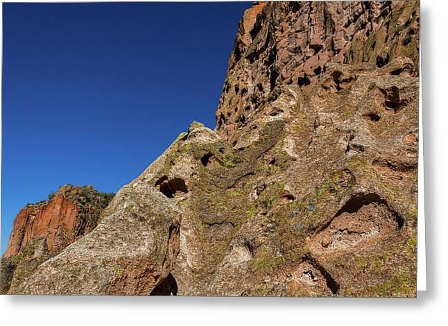 Cliffs At Bandelier Greeting Card by Stuart Litoff