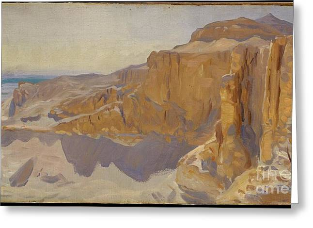 Cliffs At Deir El Bahri Greeting Card by Celestial Images