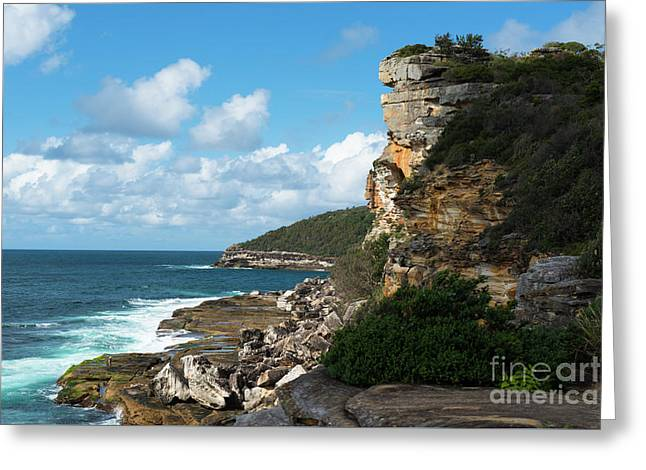 Cliffs At Manly Greeting Card