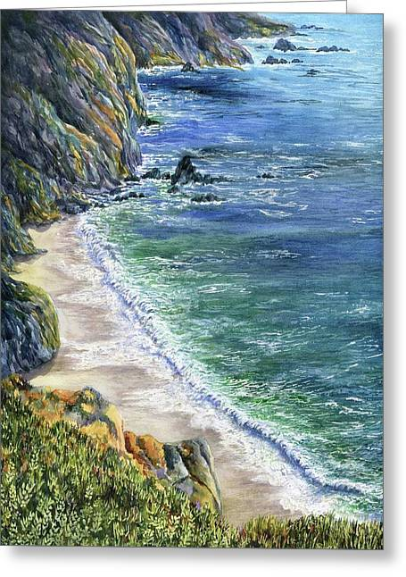 Cliffs Greeting Card by Karen Wright
