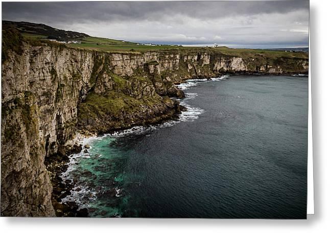 Cliffs Near Larrybane Greeting Card