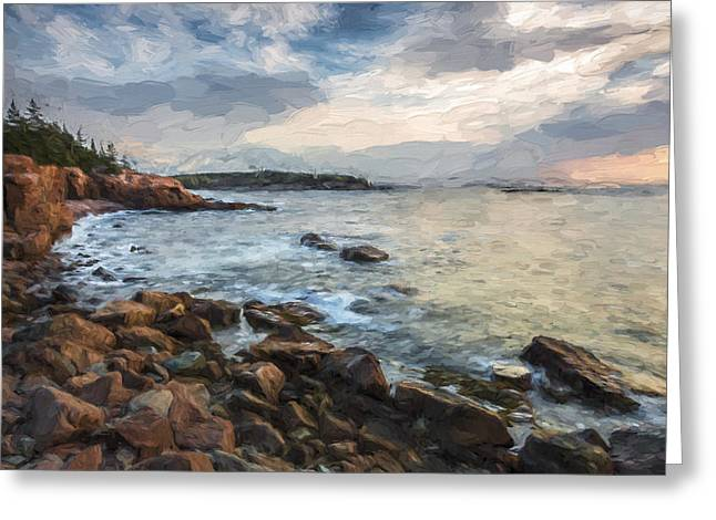 Cliffs Of Acadia II Greeting Card by Jon Glaser